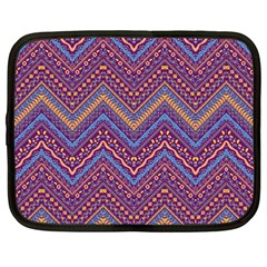 Colorful Ethnic Background With Zig Zag Pattern Design Netbook Case (large) by TastefulDesigns