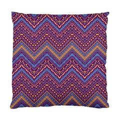 Colorful Ethnic Background With Zig Zag Pattern Design Standard Cushion Case (one Side) by TastefulDesigns