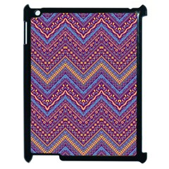 Colorful Ethnic Background With Zig Zag Pattern Design Apple Ipad 2 Case (black) by TastefulDesigns