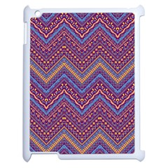 Colorful Ethnic Background With Zig Zag Pattern Design Apple Ipad 2 Case (white) by TastefulDesigns