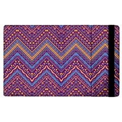 Colorful Ethnic Background With Zig Zag Pattern Design Apple Ipad 2 Flip Case by TastefulDesigns