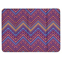 Colorful Ethnic Background With Zig Zag Pattern Design Samsung Galaxy Tab 7  P1000 Flip Case by TastefulDesigns