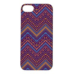 Colorful Ethnic Background With Zig Zag Pattern Design Apple Iphone 5s/ Se Hardshell Case by TastefulDesigns