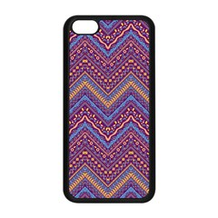 Colorful Ethnic Background With Zig Zag Pattern Design Apple Iphone 5c Seamless Case (black) by TastefulDesigns