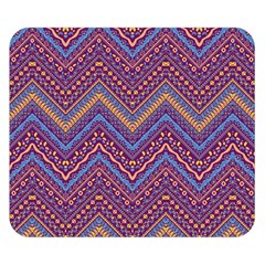 Colorful Ethnic Background With Zig Zag Pattern Design Double Sided Flano Blanket (small)  by TastefulDesigns