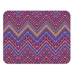 Colorful Ethnic Background With Zig Zag Pattern Design Double Sided Flano Blanket (large)  by TastefulDesigns