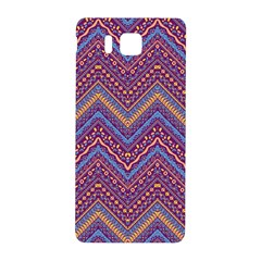 Colorful Ethnic Background With Zig Zag Pattern Design Samsung Galaxy Alpha Hardshell Back Case by TastefulDesigns