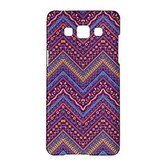 Colorful Ethnic Background With Zig Zag Pattern Design Samsung Galaxy A5 Hardshell Case  by TastefulDesigns