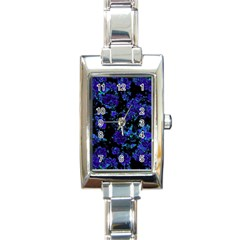 Floral Dreams 12 B Rectangle Italian Charm Watch by MoreColorsinLife