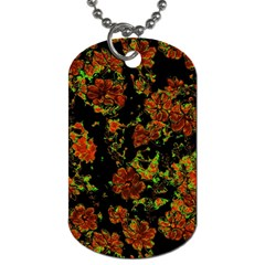 Floral Dreams 12 C Dog Tag (two Sides) by MoreColorsinLife
