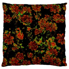Floral Dreams 12 C Large Flano Cushion Case (one Side) by MoreColorsinLife