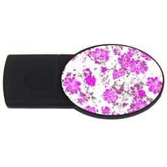 Floral Dreams 12 F Usb Flash Drive Oval (2 Gb) by MoreColorsinLife