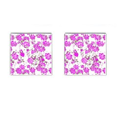 Floral Dreams 12 F Cufflinks (square) by MoreColorsinLife
