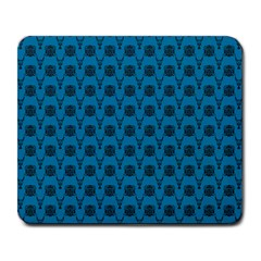 Lion Vs Gazelle Damask In Teal Large Mousepads