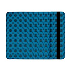 Lion Vs Gazelle Damask In Teal Samsung Galaxy Tab Pro 8 4  Flip Case
