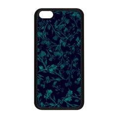 Leaf Pattern Apple Iphone 5c Seamless Case (black) by berwies