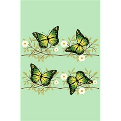 Four Green Butterflies 5 5  X 8 5  Notebooks by linceazul
