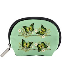 Four Green Butterflies Accessory Pouches (small)  by linceazul
