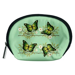 Four Green Butterflies Accessory Pouches (medium)  by linceazul