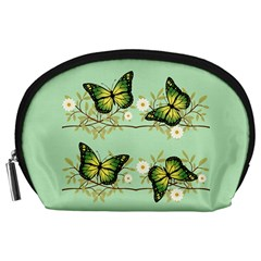 Four Green Butterflies Accessory Pouches (large)  by linceazul