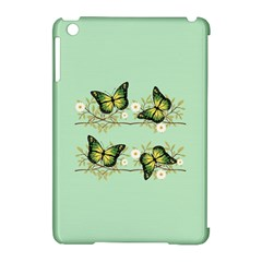 Four Green Butterflies Apple Ipad Mini Hardshell Case (compatible With Smart Cover) by linceazul