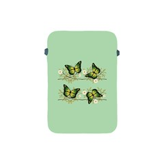 Four Green Butterflies Apple Ipad Mini Protective Soft Cases by linceazul
