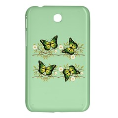 Four Green Butterflies Samsung Galaxy Tab 3 (7 ) P3200 Hardshell Case  by linceazul