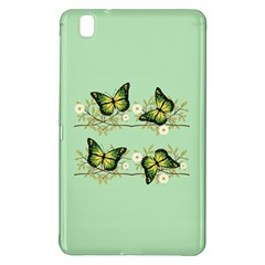 Four Green Butterflies Samsung Galaxy Tab Pro 8 4 Hardshell Case by linceazul