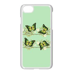Four Green Butterflies Apple Iphone 7 Seamless Case (white) by linceazul