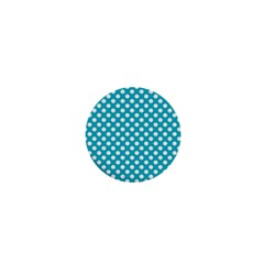 Sleeping Kitties Polka Dots Teal 1  Mini Magnets