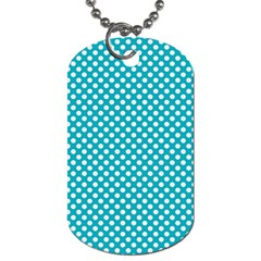 Sleeping Kitties Polka Dots Teal Dog Tag (one Side) by emilyzragz