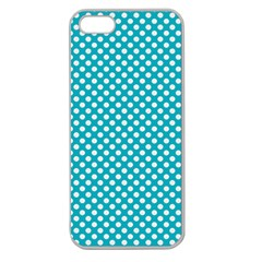 Sleeping Kitties Polka Dots Teal Apple Seamless Iphone 5 Case (clear) by emilyzragz