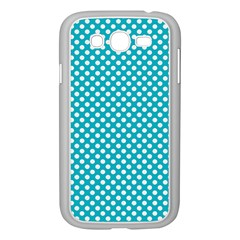 Sleeping Kitties Polka Dots Teal Samsung Galaxy Grand Duos I9082 Case (white) by emilyzragz