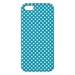 Sleeping Kitties Polka Dots Teal Iphone 5s/ Se Premium Hardshell Case by emilyzragz