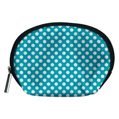 Sleeping Kitties Polka Dots Teal Accessory Pouches (medium)
