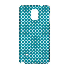 Sleeping Kitties Polka Dots Teal Samsung Galaxy Note 4 Hardshell Case