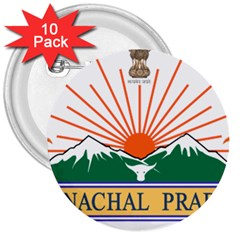 Seal Of Indian State Of Arunachal Pradesh  3  Buttons (10 Pack)  by abbeyz71