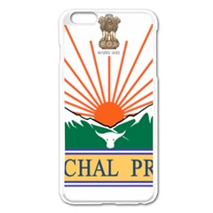 Seal Of Indian State Of Arunachal Pradesh  Apple Iphone 6 Plus/6s Plus Enamel White Case by abbeyz71