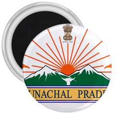 Indian State Of Arunachal Pradesh Seal 3  Magnets by abbeyz71