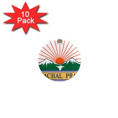 Indian State Of Arunachal Pradesh Seal 1  Mini Magnet (10 Pack)  by abbeyz71