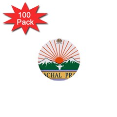 Indian State Of Arunachal Pradesh Seal 1  Mini Buttons (100 Pack)  by abbeyz71