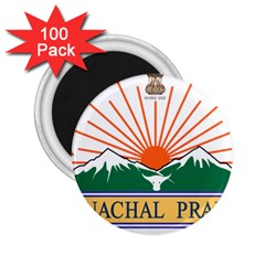 Indian State Of Arunachal Pradesh Seal 2 25  Magnets (100 Pack)  by abbeyz71