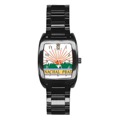 Indian State Of Arunachal Pradesh Seal Stainless Steel Barrel Watch by abbeyz71