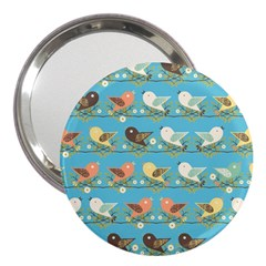 Assorted Birds Pattern 3  Handbag Mirrors by linceazul