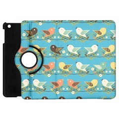 Assorted Birds Pattern Apple Ipad Mini Flip 360 Case by linceazul