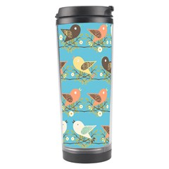 Assorted Birds Pattern Travel Tumbler by linceazul