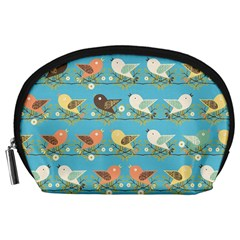 Assorted Birds Pattern Accessory Pouches (large)  by linceazul