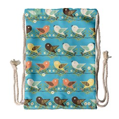 Assorted Birds Pattern Drawstring Bag (large) by linceazul