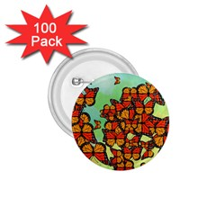 Monarch Butterflies 1 75  Buttons (100 Pack)  by linceazul