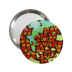 Monarch Butterflies 2 25  Handbag Mirrors by linceazul